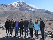 A hike up Mount Chimborazo took the group to much higher altitudes.