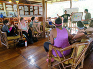 Class discussions took place throughout the trip, including at the Yasuni Kichwa Ecolodge.