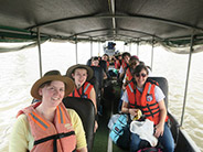 The group took a canoe ride up the Napo River to Yauni National Park.