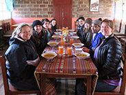 The students enjoyed lunch at their hotel, Casa Condor, in Pulingui San Pablo.
