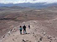 The walk back down the Chimborazo Volcano in central Ecuador.