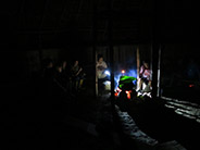 Guyasada (dream interpreting) ceremony in the Añangu Community along the Napo River. Families gather before dawn to share dreams while drinking guayusa tea.