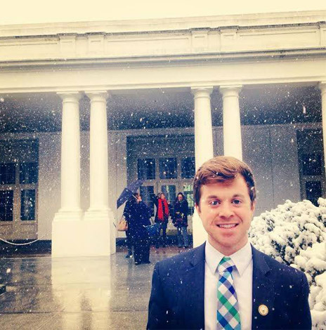 Zach Parolin in front of the White House