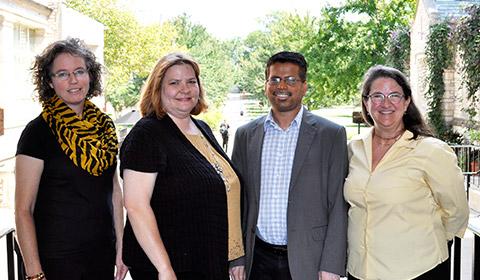 MU faculty Sarah Bush, Bethany Stone, Newton D'Souza and Betsy Baker