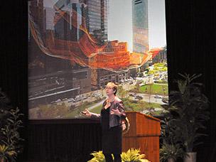 Keynote speaker Janet Echelman