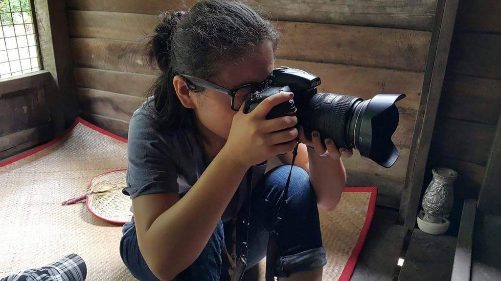 Siyu Lei taking photos