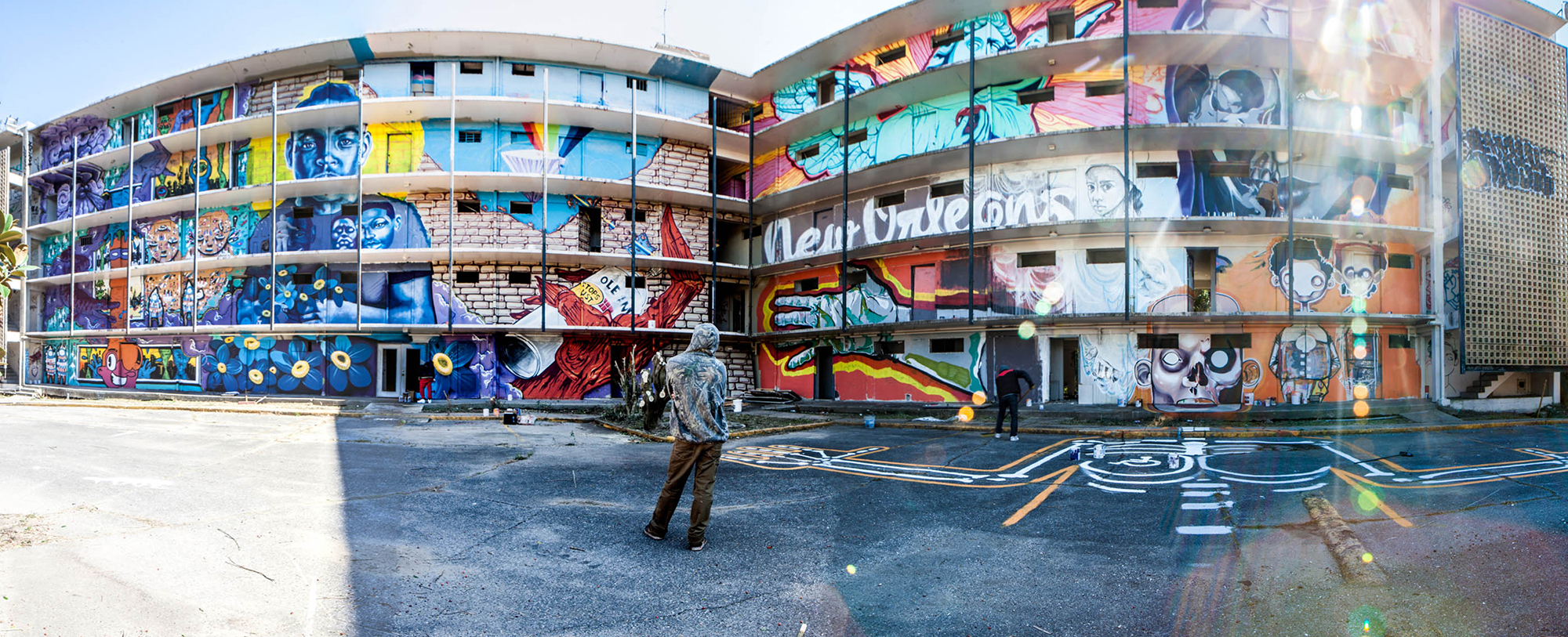 Large mural on building